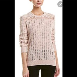 The kooples crochet cotton pullover.